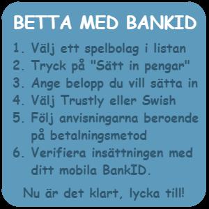 Mobilt bank id för betting