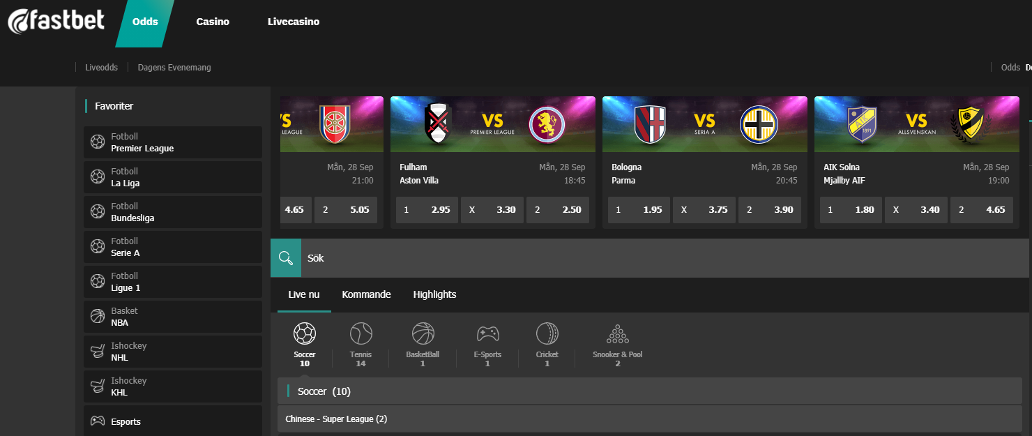 Fastbet Odds Live Betting